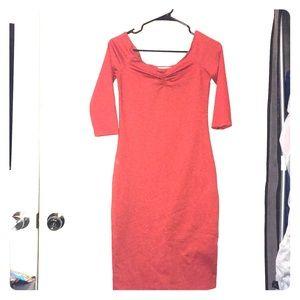 Zara trafaluc burnt orange Dress